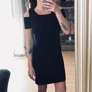 CALVIN KLEIN NWOT Black cold shoulder dress